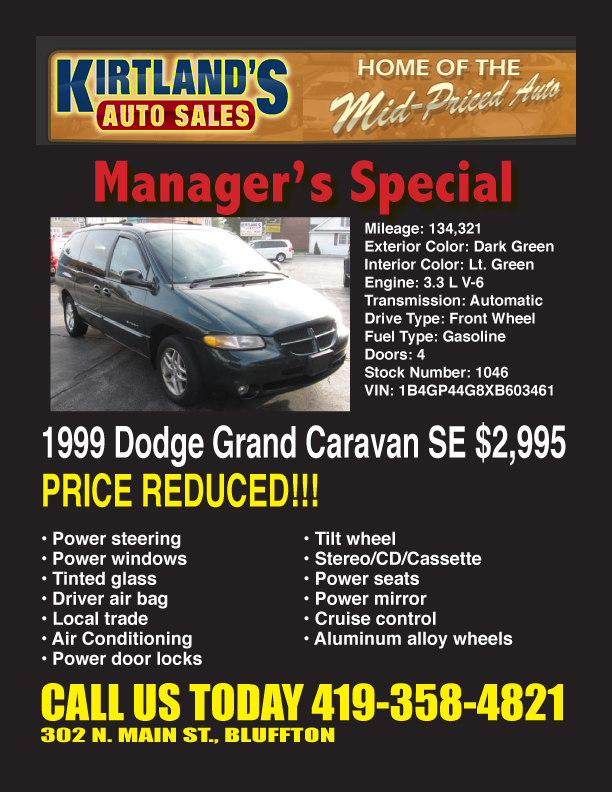 Village Auto Sales >> 1999 Dodge Grand Caravan SE manager's special at Kirtland ...