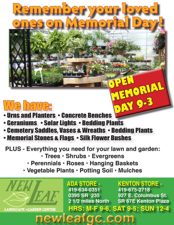 New Leaf Garden Center Open Memorial Day   Has Lots Of Spring Selections