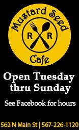 Mustard Seed Cafe Bluffton Menu