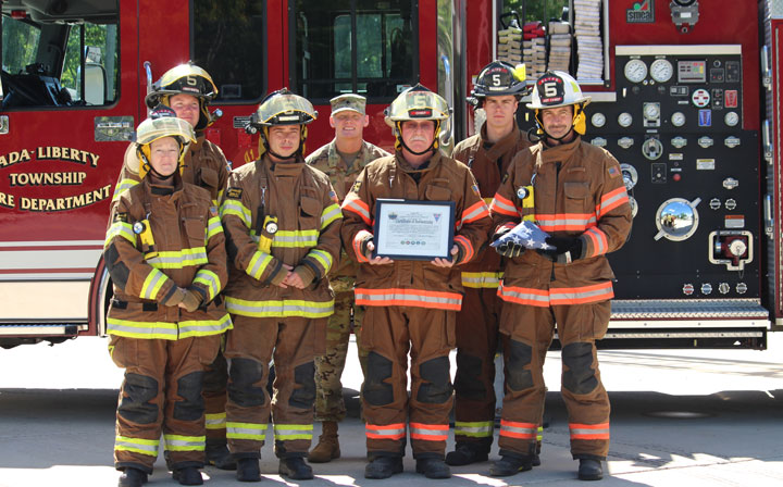 Ada remembers Sept  11 with impressive ceremony at fire