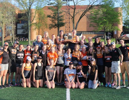 women win oac title 3 conference records broken the ada icon